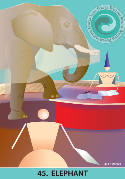 tarot card - The Elephant Card