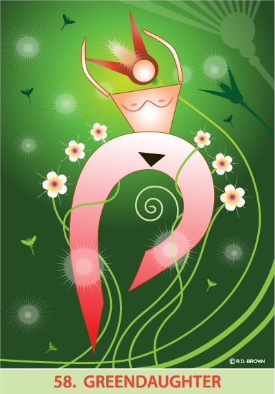 tarot card - Green Daughter Card