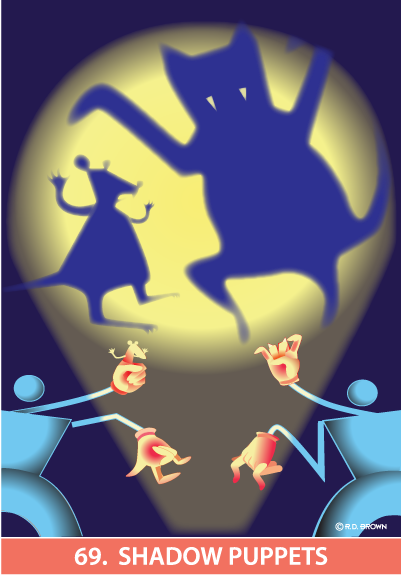 tarot card - Shadow Puppets Card