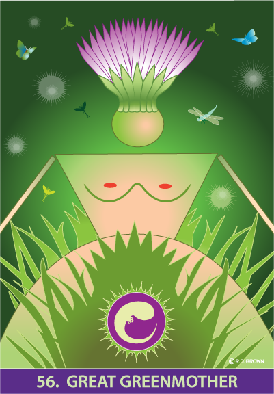 tarot card - The Great Greenmother Card